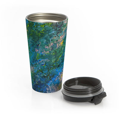 Rhapsody in Blue - Stainless Steel Travel Mug