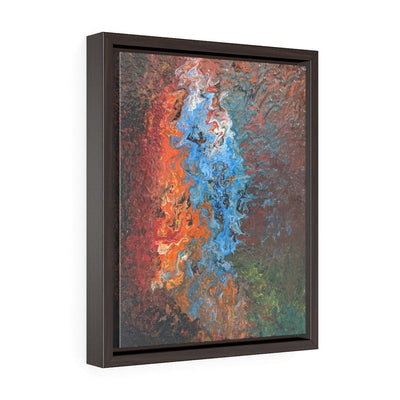 Fire & Water - Vertical Framed Premium Gallery Wrap Canvas - Fiercely Fem