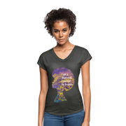 Diamond - Women's Tri-Blend V-Neck T-Shirt - Fiercely Fem