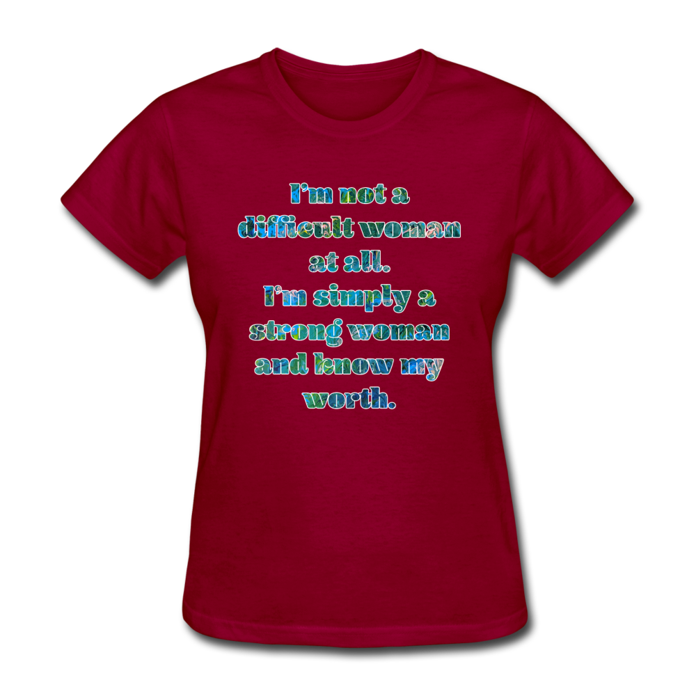 Worth - Women's Basic Tee - dark red