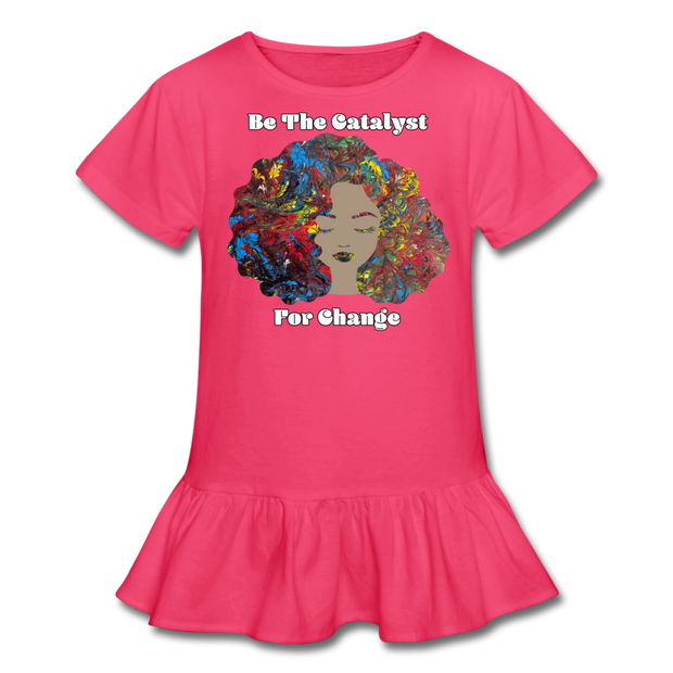 Catalyst - Girl's Ruffle Tee - fuchsia