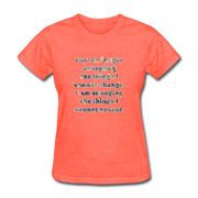 No Longer - Women's Basic Tee - heather coral