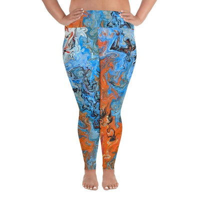 Fire & Water - Plus Size Leggings - Fiercely Fem