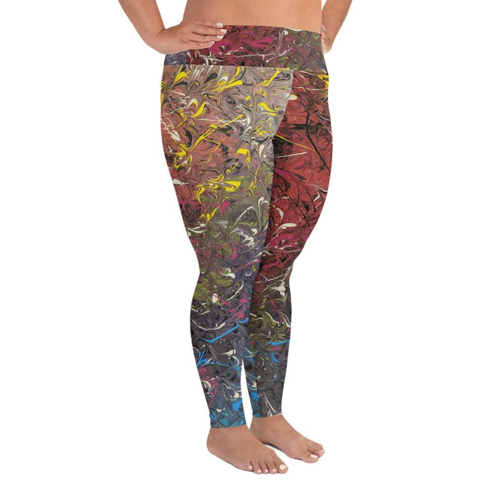 Mood Splash - Plus Size Leggings - Fiercely Fem