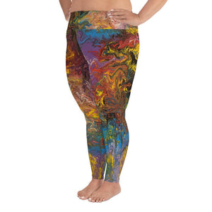 Rendezvous of Color - Plus Size Leggings - Fiercely Fem