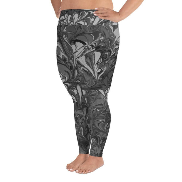 Fiercely Shades of Gray - Plus Size Leggings - Fiercely Fem