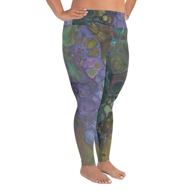 Ebb & Flow - Plus Size Leggings - Fiercely Fem