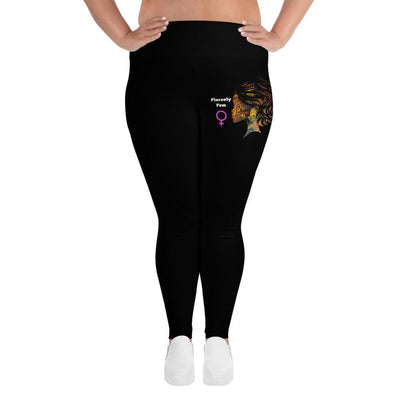 Fiercely Fem Plus Size Leggings - Fiercely Fem