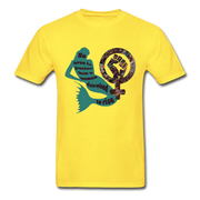 Black Female Rise - Unisex Tee - yellow