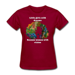 Dreamer to Visionary - Women's Favorite Tee - dark red