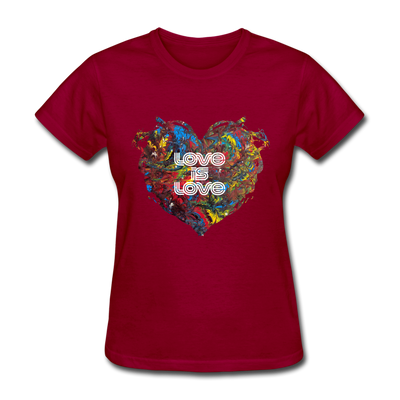 Love is Love - Women's Favorite Tee - dark red