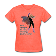Powerful - Women's Favorite Tee - heather coral