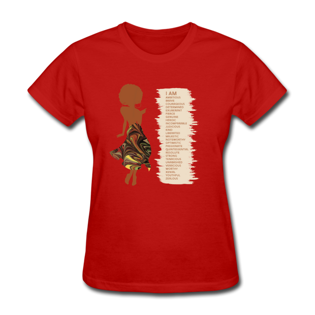 I Am - Women's Favorite Tee - red