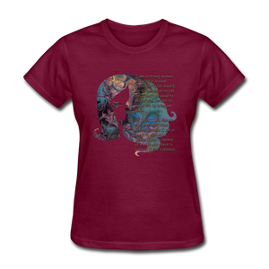 Stronger - Women's Favorite Tee - burgundy