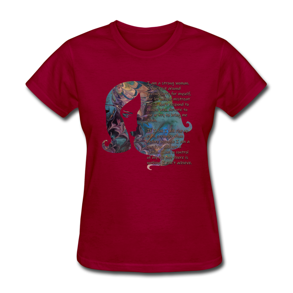Stronger - Women's Favorite Tee - dark red