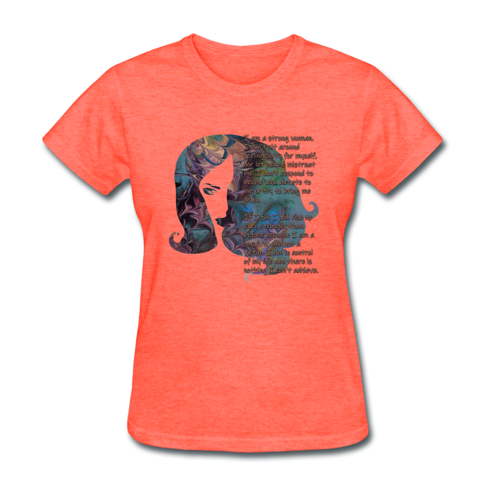 Stronger - Women's Favorite Tee - heather coral