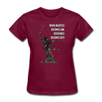Duty - Women's Favorite Tee - burgundy