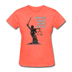 Duty - Women's Favorite Tee - heather coral
