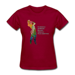 C.U.R.V.Y. - Women's Favorite Tee - dark red