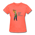 C.U.R.V.Y. - Women's Favorite Tee - heather coral