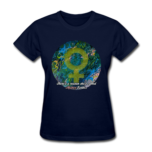 Mother Earth - Women's Favorite Tee - navy