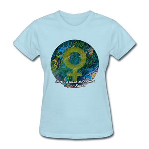 Mother Earth - Women's Favorite Tee - powder blue