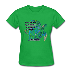 Wisdom & Strength - Women's Favorite Tee - bright green