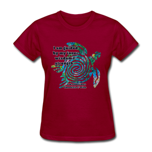 Wisdom & Strength - Women's Favorite Tee - dark red