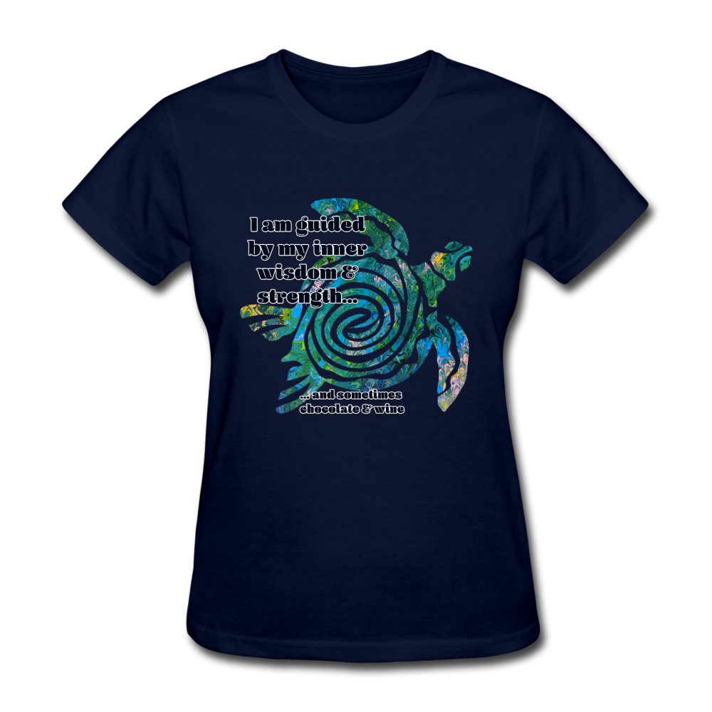 Wisdom & Strength - Women's Favorite Tee - navy