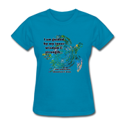 Wisdom & Strength - Women's Favorite Tee - turquoise