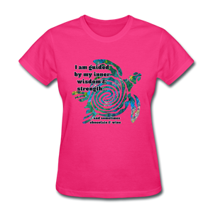 Wisdom & Strength - Women's Favorite Tee - fuchsia