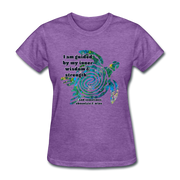 Wisdom & Strength - Women's Favorite Tee - purple heather