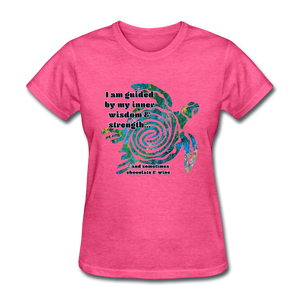 Wisdom & Strength - Women's Favorite Tee - heather pink