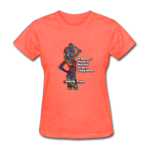 Lady Boss - Women's Favorite Tee - heather coral
