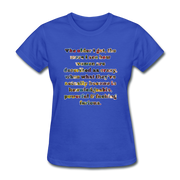 Crazy - Women's Favorite Tee - royal blue