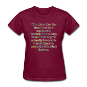 Crazy - Women's Favorite Tee - burgundy