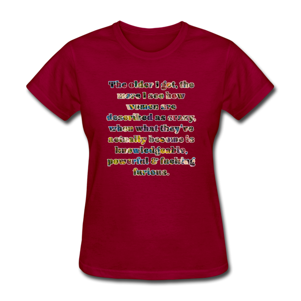 Crazy - Women's Favorite Tee - dark red