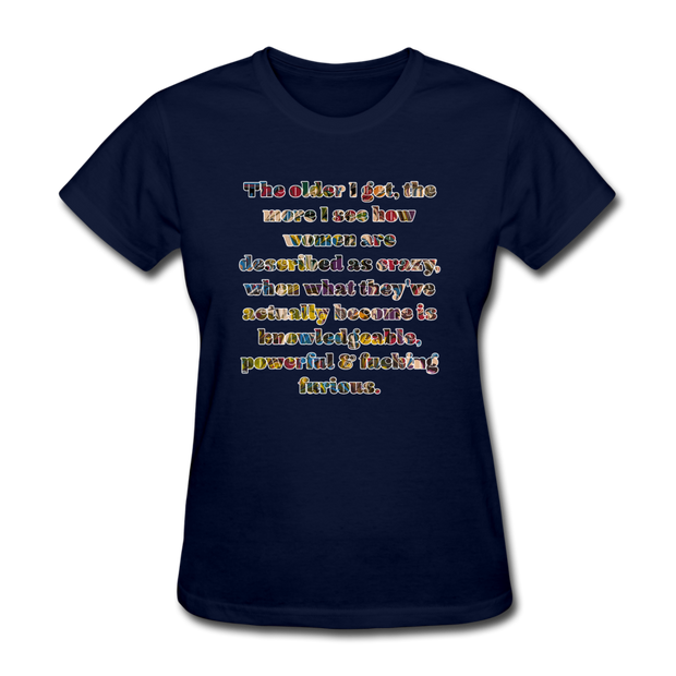 Crazy - Women's Favorite Tee - navy