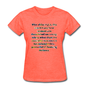 Crazy - Women's Favorite Tee - heather coral