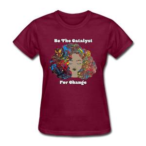 Catalyst - Women's Favorite Tee (Charity Collection) - burgundy