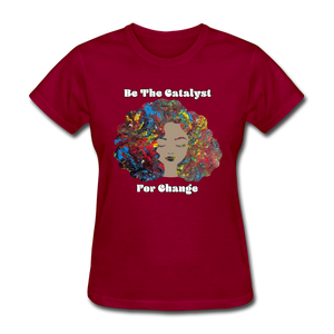 Catalyst - Women's Favorite Tee (Charity Collection) - dark red
