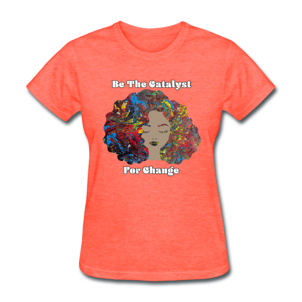 Catalyst - Women's Favorite Tee (Charity Collection) - heather coral