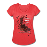 I Can - Women's Tri-Blend V-Neck Tee - heather red