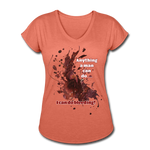 I Can - Women's Tri-Blend V-Neck Tee - heather bronze