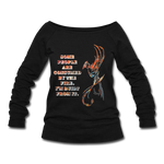 Built From Fire - Women's Wideneck Sweatshirt - black
