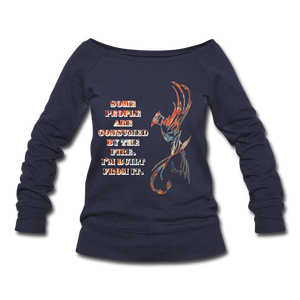 Built From Fire - Women's Wideneck Sweatshirt - melange navy