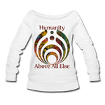 Humanity - Women's Wideneck Sweatshirt - white