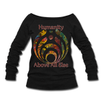 Humanity - Women's Wideneck Sweatshirt - black