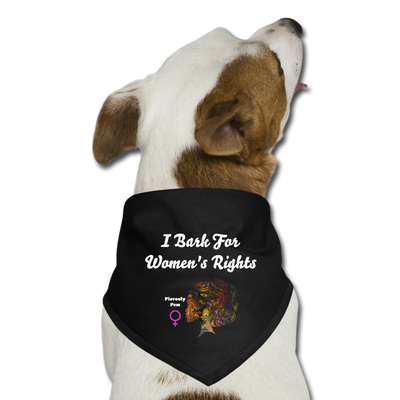 Bark For Women's Rights - Dog Bandana - black