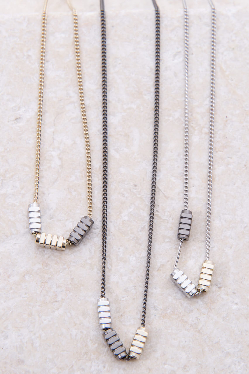 Tri-Bolt Necklace